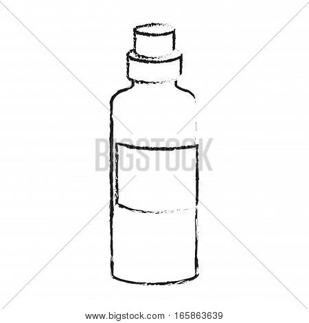 bottle of water icon over white background. vector illustration