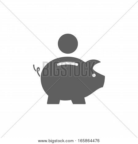 Isolated piggy bank icon on white background