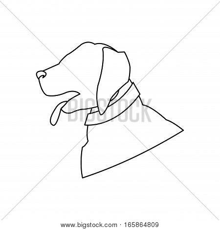 dog cartoon icon over white background. vector illustration