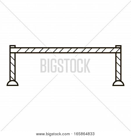 Warning barrier icon. Outline illustration of warning barrier vector icon for web