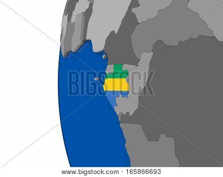 Gabon On Globe