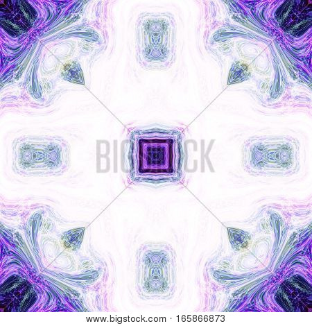 Bright violet and blue design ornate ornamental tile pattern