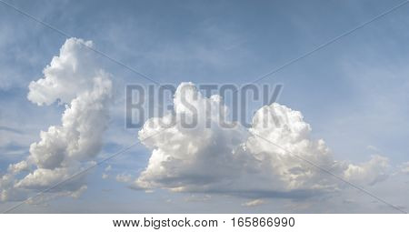 Clouds and blue sky during the day background
