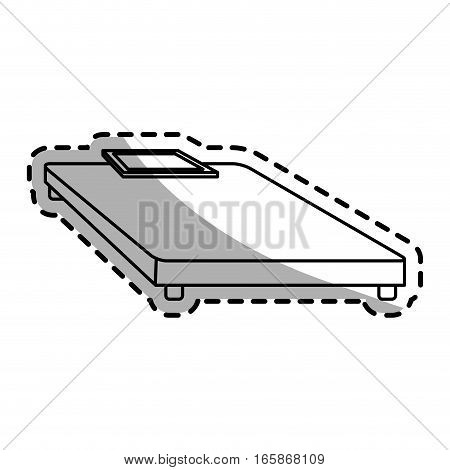 weight scale device icon over white background. vector illustration