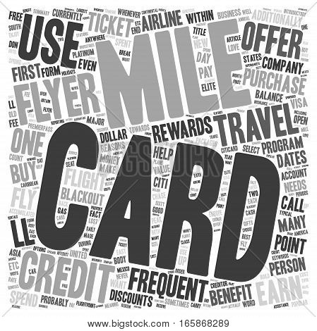 Frequent Flyer Credit Cards text background wordcloud concept