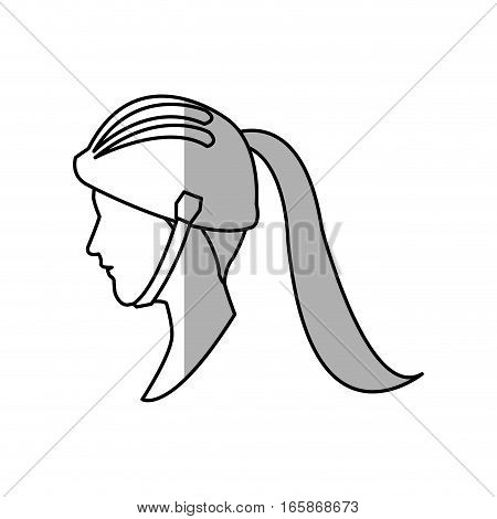 woman face cartoon icon over white background. vector illustration