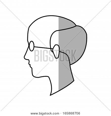 old man face cartoon icon over white background. vector illustration