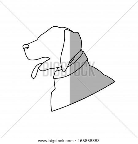 dog cartoon icon over white background. vector illustration