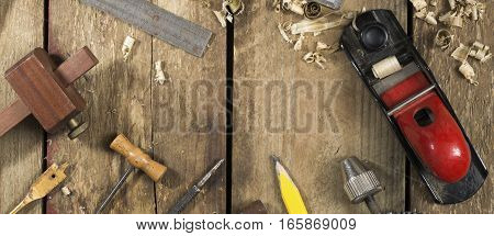 Various Carpentry Tools Banner Image