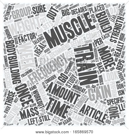 Gain Weight Fast Muscle With High Frequency Pt 1 text background wordcloud concept poster