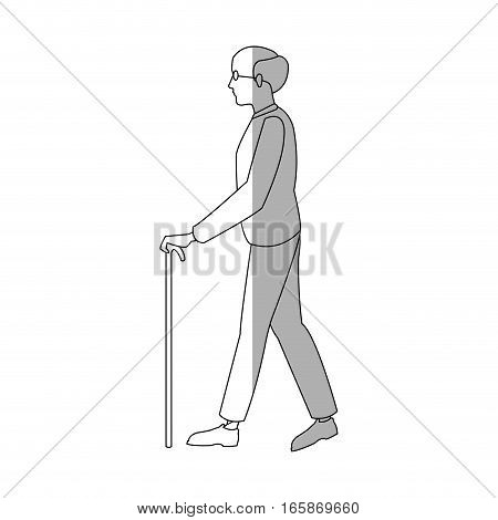 old man cartoon icon over white background. vector illustration
