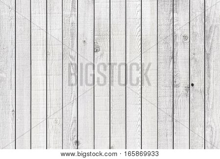 White wood fence texture and background seamless