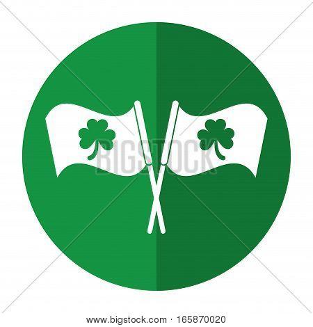 clover flag ornate st patrick day shadow vector illustration eps 10