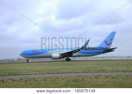 March 27th 2015 Amsterdam Schiphol Airport PH-OYI Arke Boeing 767-300 Polderbaan Runway