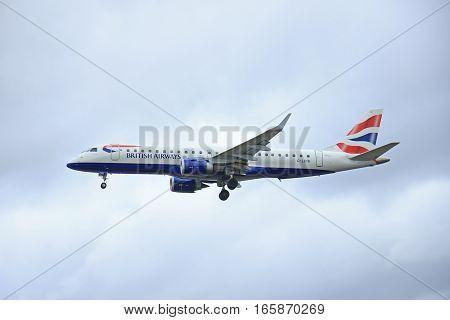 March 27th 2015 Amsterdam Schiphol Airport G-LCYK BA CityFlyer Embraer ERJ-190 Polderbaan Runway