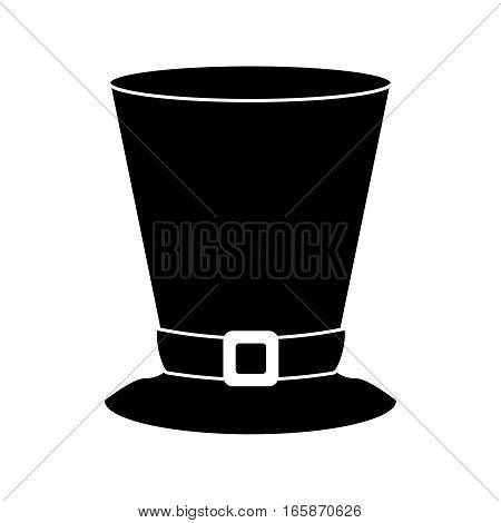 silhouette top hat saint patrick day symbol vector illustration eps 10