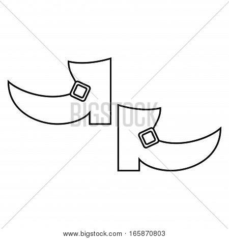 boot leprachaun st patrick day outline vector illustration eps 10