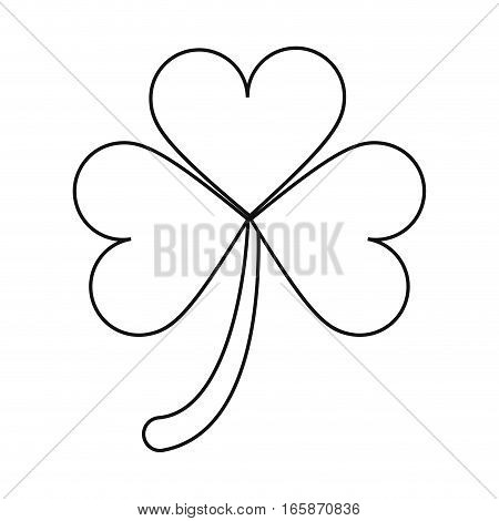 clover leafs saint patrick day ornament outline vector illustration eps 10