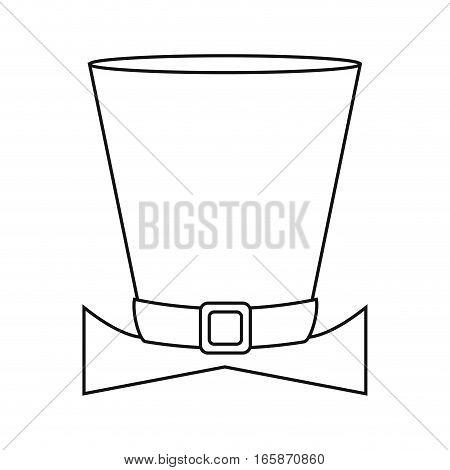 top hat saint patrick day symbol outline vector illustration eps 10