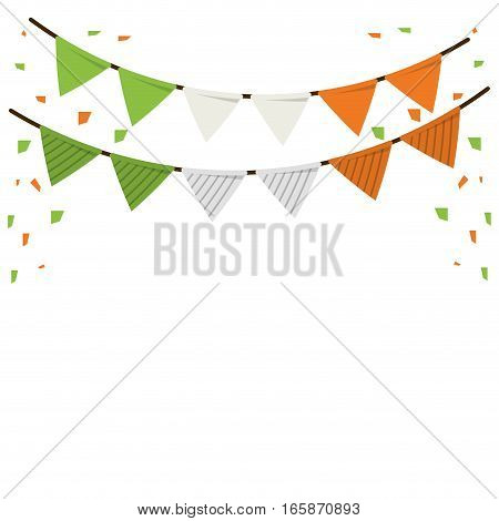 festive bunting confetti st patrick day vector illustration eps 10