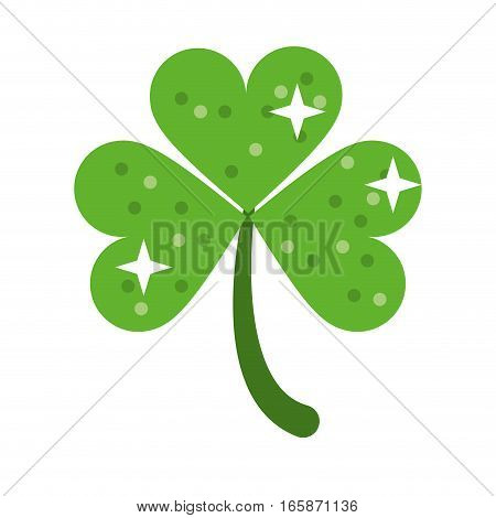 clover leafs saint patrick day ornament shiny vector illustration eps 10