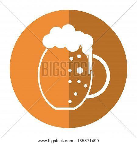 st patrick day jar beer foam cold shadow vector illustration eps 10