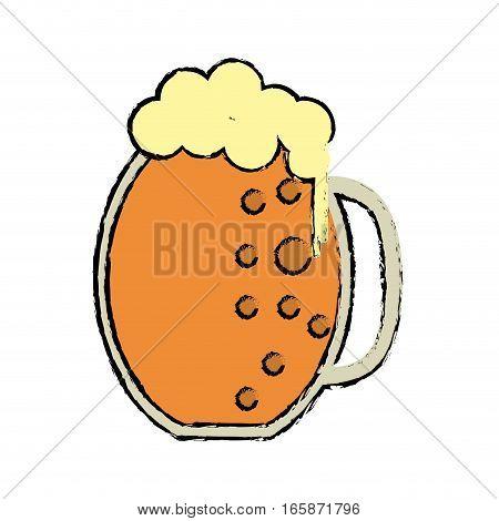 cartoon st patrick day jar beer foam cold vector illustration eps 10