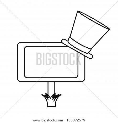 wooden sign st patrick day hat outline vector illustration eps 10
