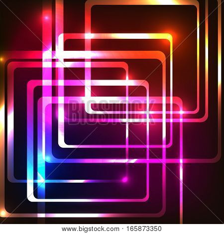 Abstract background with rounded rectangles, stock vector