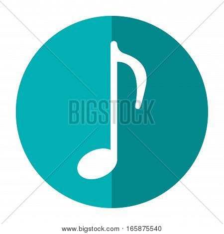 music note sound melody symbol shadow vector illustration eps 10