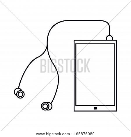 smartphone earphones application modern outline vector illustration eps 10