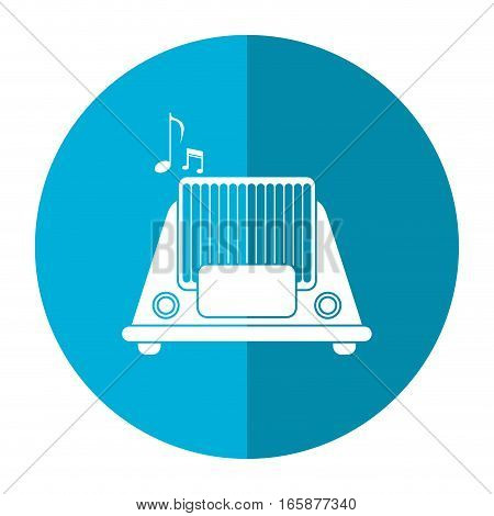 radio music communication device shadow vector illustration eps 10