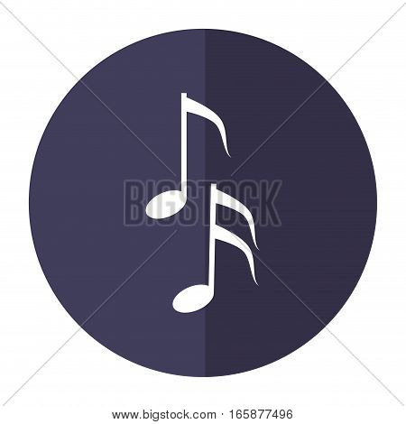 musical note melody symbol shadow vector illustration eps 10
