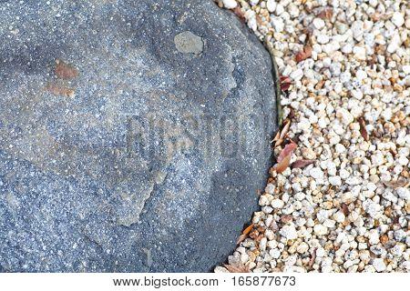 Garden stone path and pebble in Japanese garden