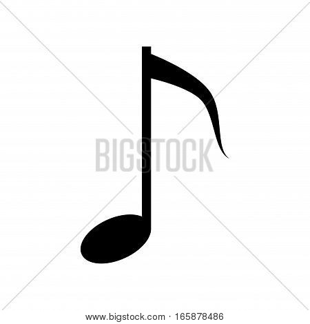 silhouette musical note melody symbol vector illustration eps 10