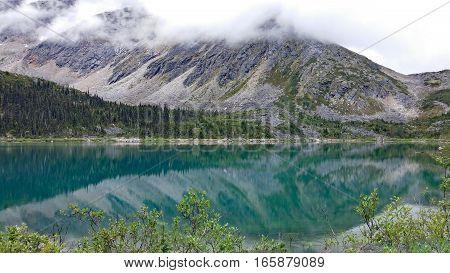 Upper Dewey Lake in summer, Skagway, Alaska
