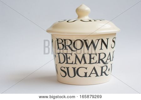 Classic Sugar Bowl On White Front View