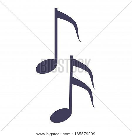 musical note melody symbol vector illustration eps 10