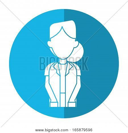 doctor woman medicine science help shadow vector illustration eps 10