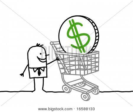 empresario & carrito de compras