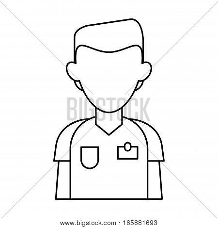 nurse male suit surgeon hospital outline vector illustration eps 10