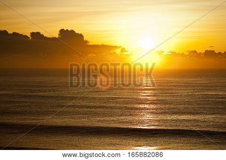 Sunrise over the Gold Coast, Queensland, Australia. A calm morning near Surfers Paradise, Queensland.