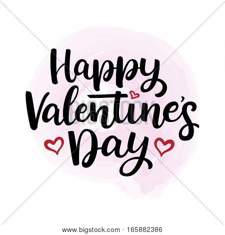 Hand Drawn Vector  Lettering Happy Valentine's Day And Heart