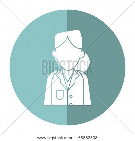 woman doctor therapist diagnosis with shadow vector illustration eps 10