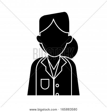 silhouette woman doctor therapist diagnosis vector illustration eps 10
