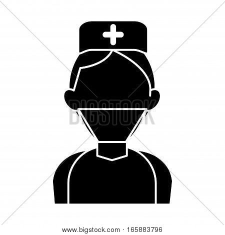 silhouette surgeon doctor wearing clothes medical uniform vector illustration eps 10