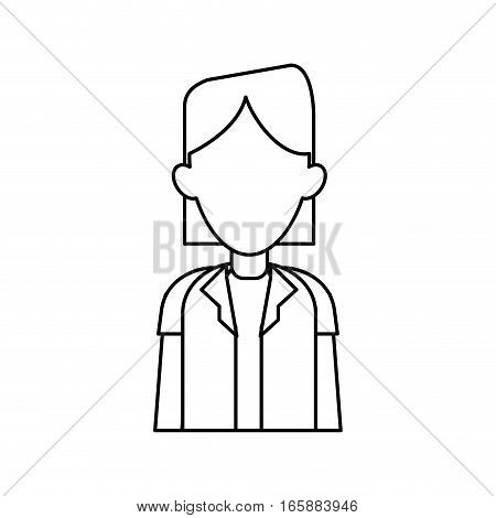 woman doctor occupational medical work outline vector illustration eps 10