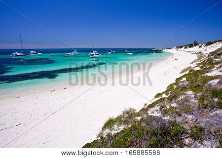 The stunning Rottnest Island is located off the coast of Western Australia only a short ferry ride from Perth City.