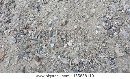 Gravel / sand abstract texture. Gravel background
