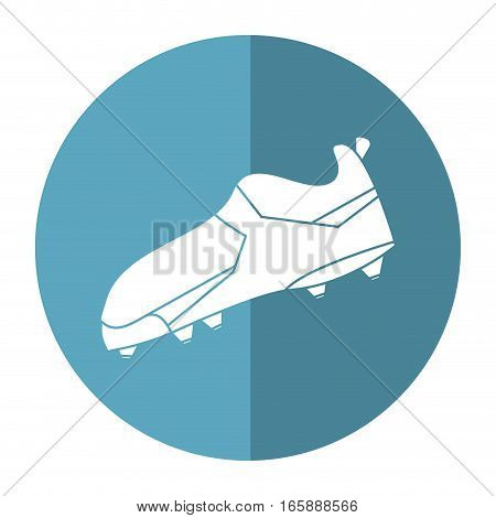 american football boot shoes spiked shadow vector illustration eps 10